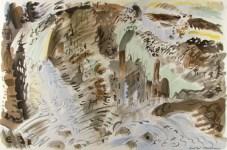 Lot #1567: ANDRE MASSON - Torrent - Original color lithograph