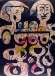 Lot #2231: KARIMA MUYAES - Amantes Azules - Color stencil monoprint