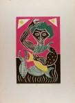 Lot #1005: KARIMA MUYAES - Parabola del Mar III - Color linoleum cut