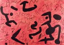 Lot #1994: JOAN MIRO - Hommage a Aime et Marguerite Maeght - Original color lithograph