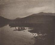 Lot #1173: GIULIO GATTI-CASAZZA - Lake Scene - Original vintage photolithograph