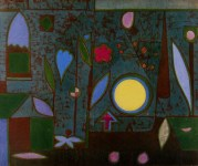 "Lot #516: PAUL KLEE - Full Moon in the Garden [""Pleine Lune au Jardin""] - Original color collotype"