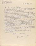 Lot #1000: MIKHAIL LARIONOV - Paris Painters' Balls, Letter #2 - Autograph letter signed