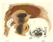 Lot #1830: GEORGES BRAQUE - Nature morte au pichet - Original color collotype