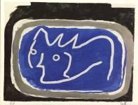 Lot #1612: GEORGES BRAQUE - Tete - Original color collotype