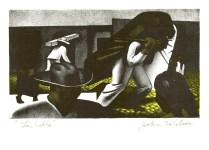 Lot #1182: JOHN WILSON - La Calle - Original color lithograph