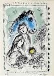 Lot #1420: MARC CHAGALL - Blue Horse with Couple (Le cheval bleu au couple/Blaues Pferd mit Paar) - Original color lithograph