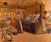 Lot #1594: LIBRAIRIE ARMAND COLIN [publisher] - The Kitchen - Color lithograph