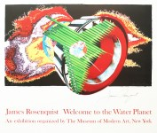 Lot #1518: JAMES ROSENQUIST - Welcome to the Water Planet: Space Dust - Original color offset lithograph