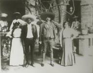 Lot #569: HUGO BREHME - Emiliano y Eufemio Zapata y Esposas - Gelatin silver print