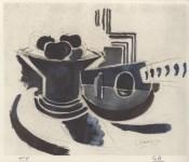 Lot #1132: GEORGES BRAQUE - Mandoline et compotier - Original color collotype