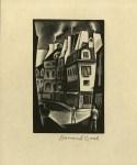 Lot #269: HOWARD COOK - Paris Street - Wood engraving