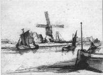 Lot #1610: REMBRANDT (REMBRANDT HARMENSZ VAN RIJN) [d'apres] - The Angler in a Boat - Etching