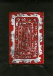 Lot #326: KARIMA MUYAES - Navajo - Color linocut