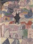 """Lot #62: PAUL KLEE - Under the Black Star [""""Sous une etoile noire""""] - Original color collotype"""