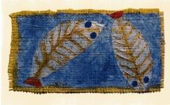 "Lot #684: PAUL KLEE - Blue-eyed Fishes [""Poissons aux yeux bleus""] - Original color collotype"