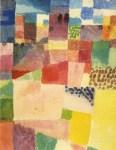 "Lot #2008: PAUL KLEE - Hamammet Theme [""Motiv aus Hamammet""] - Original color collotype"