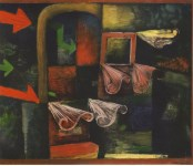 """Lot #2050: PAUL KLEE - Fire-Wind [""""Feuerwind""""] - Original color collotype"""
