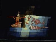 "Lot #189: PAUL KLEE - Scene from the Tragi-comic Opera 'Sindbad the Sailor' [""Kampfszene aus der komisch-fantastischen Oper Sindbad der Seefahrer""] - Original color collotype"