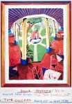 Lot #1524: DAVID HOCKNEY - Views of Hotel Well III - Color offset lithograph