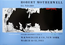 Lot #2183: ROBERT MOTHERWELL - Black with No Way Out - Original color photolithograph