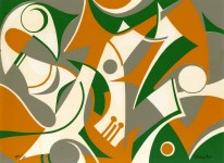 Lot #116: STEVE WHEELER - The Fox Went Out - Original color silkscreen