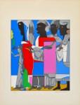 Lot #1311: ROMARE BEARDEN - Easter Procession - Color silkscreen