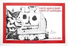 Lot #1123: PABLO PICASSO - March against Death - March on Washington - Original color letterset/letterpress