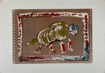 Lot #1338: KARIMA MUYAES - Cuadrupedo - Original color stencil monoprint