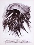 Lot #710: GUILLERMO MEZA - Bajaran Hormigas Como Tigres - Lithograph in brown ink