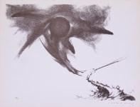Lot #50: GUILLERMO MEZA - Vendra una Gran Guerra - Lithograph in brown ink