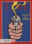 Lot #1595: ROY LICHTENSTEIN - The Gun in America - Color offset lithograph