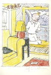 Lot #1970: ROY LICHTENSTEIN - Interior with Painting of Tintin (Tintin in the New World) - Color offset lithograph