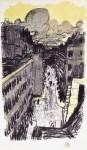 Lot #923: PIERRE BONNARD - Rue vue d'en haut - Original color lithograph
