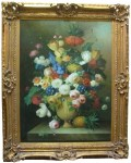 Lot #532: THOMAS A. LEE - Floral Still Life - Oil on canvas