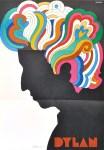 Lot #1417: MILTON GLASER - Bob Dylan - Original color offset lithograph