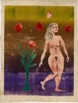 Lot #556: KARIMA MUYAES - Eva (Eve) - Original color stencil monoprint