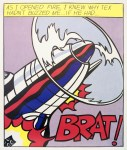 Lot #1454: ROY LICHTENSTEIN - As I Opened Fire [lifetime impressions] - Original color offset lithograph [3 prints - triptych]