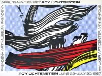 Lot #1405: ROY LICHTENSTEIN - Brushstrokes - Original color silkscreen