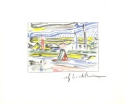 Lot #1587: ROY LICHTENSTEIN - The River - Color offset lithograph