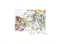 Lot #1855: ROY LICHTENSTEIN - Mountain Village - Color offset lithograph