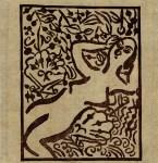 Lot #1291: SHIKO MUNAKATA - Female Nude in Garden II - Color woodcut in brown ink