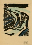 Lot #802: SHIKO MUNAKATA - Two Female Nudes - Woodcut with watercolor handcoloring