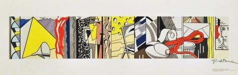 Lot #1656: ROY LICHTENSTEIN - Sketch for Greene Street Mural - Color offset lthograph