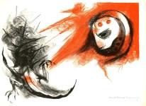 Lot #7: GUILLERMO MEZA - Y Entonces Volvera Su Mirada - Color lithograph