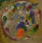 Lot #1989: WASSILY KANDINSKY - Im Kreis - Original color collotype