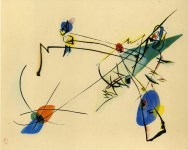 Lot #582: WASSILY KANDINSKY - Einfach - Original color collotype