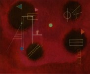 Lot #1526: WASSILY KANDINSKY - Vier Flecken (Four Splashes) - Original color collotype