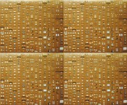 Lot #989: DAMIEN HIRST - Pharmacy Panel (Gold) (2004) (4 panel) - Color silkscreen and offset lithograph