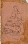 Lot #1944: FREDERIC BAZILLE [imputee] - La Brodeuse - Original pencil drawing